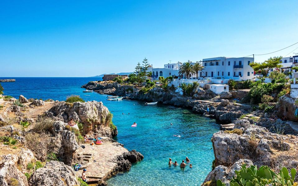 The picturesque seaside village Avlemonas or Avlemon in Kythera island, Greece. - PitK / Alamy Stock Photo