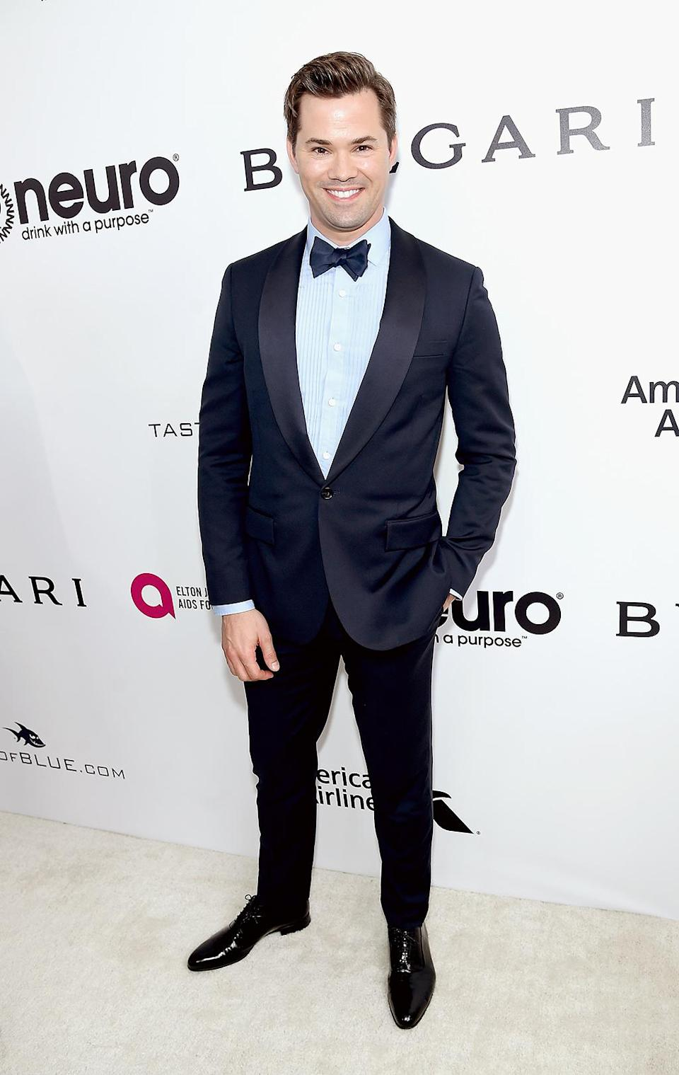 <p>Andrew Rannells attends the 25th Annual Elton John AIDS Foundation's Oscar Viewing Party at The City of West Hollywood Park on February 26, 2017 in West Hollywood, California. (Photo by Jamie McCarthy/Getty Images for EJAF) </p>