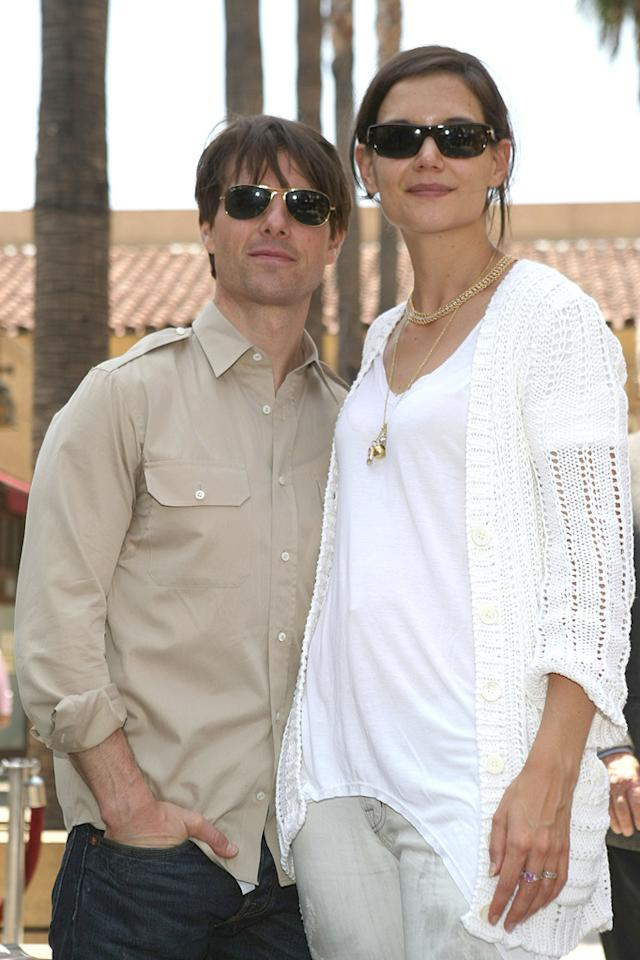 """<a href=""""http://movies.yahoo.com/movie/contributor/1800015725"""">Tom Cruise</a> and <a href=""""http://movies.yahoo.com/movie/contributor/1800018992"""">Katie Holmes</a> attend the ceremony honoring Cameron Diaz with a star on The Hollywood Walk of Fame - 06/22/2009"""
