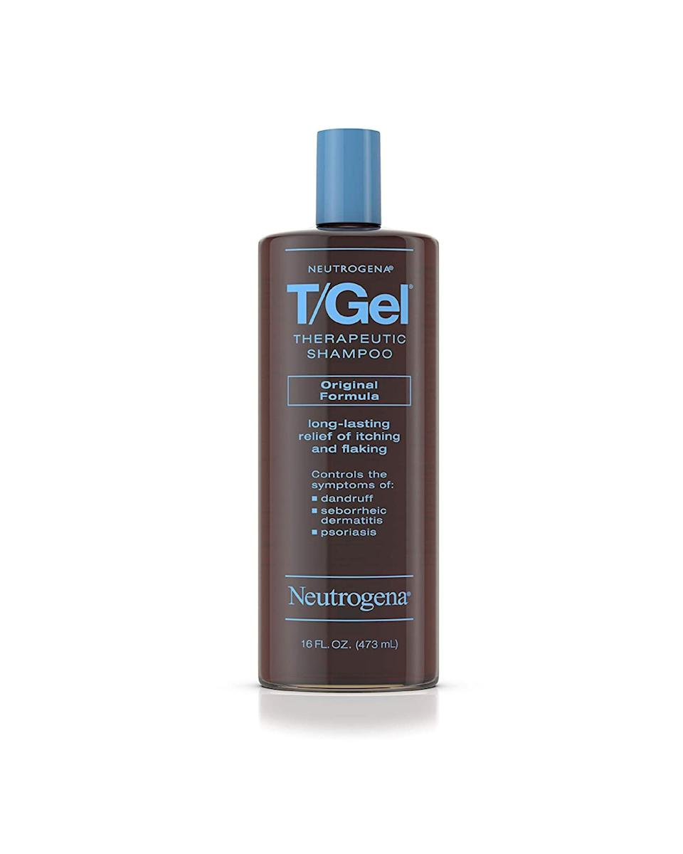 "<p><strong>Neutrogena</strong></p><p>walmart.com</p><p><strong>$8.50</strong></p><p><a href=""https://go.redirectingat.com?id=74968X1596630&url=https%3A%2F%2Fwww.walmart.com%2Fip%2F46120404&sref=https%3A%2F%2Fwww.marieclaire.com%2Fbeauty%2Fhair%2Fg34954368%2Fbest-dandruff-shampoo%2F"" rel=""nofollow noopener"" target=""_blank"" data-ylk=""slk:SHOP IT"" class=""link rapid-noclick-resp"">SHOP IT</a></p><p>As discussed, coal tar extract—not a typo—doesn't address the malassezia fungus. Instead, it works to slow the cell turnover caused by the malassezia's proliferation. Whatever the mechanism, it seems to work on dandruff, dermatitis, and some psoriasis. </p>"