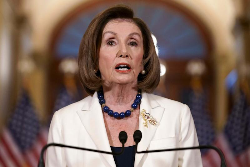 Nancy Pelosi made the announcement today (AP)