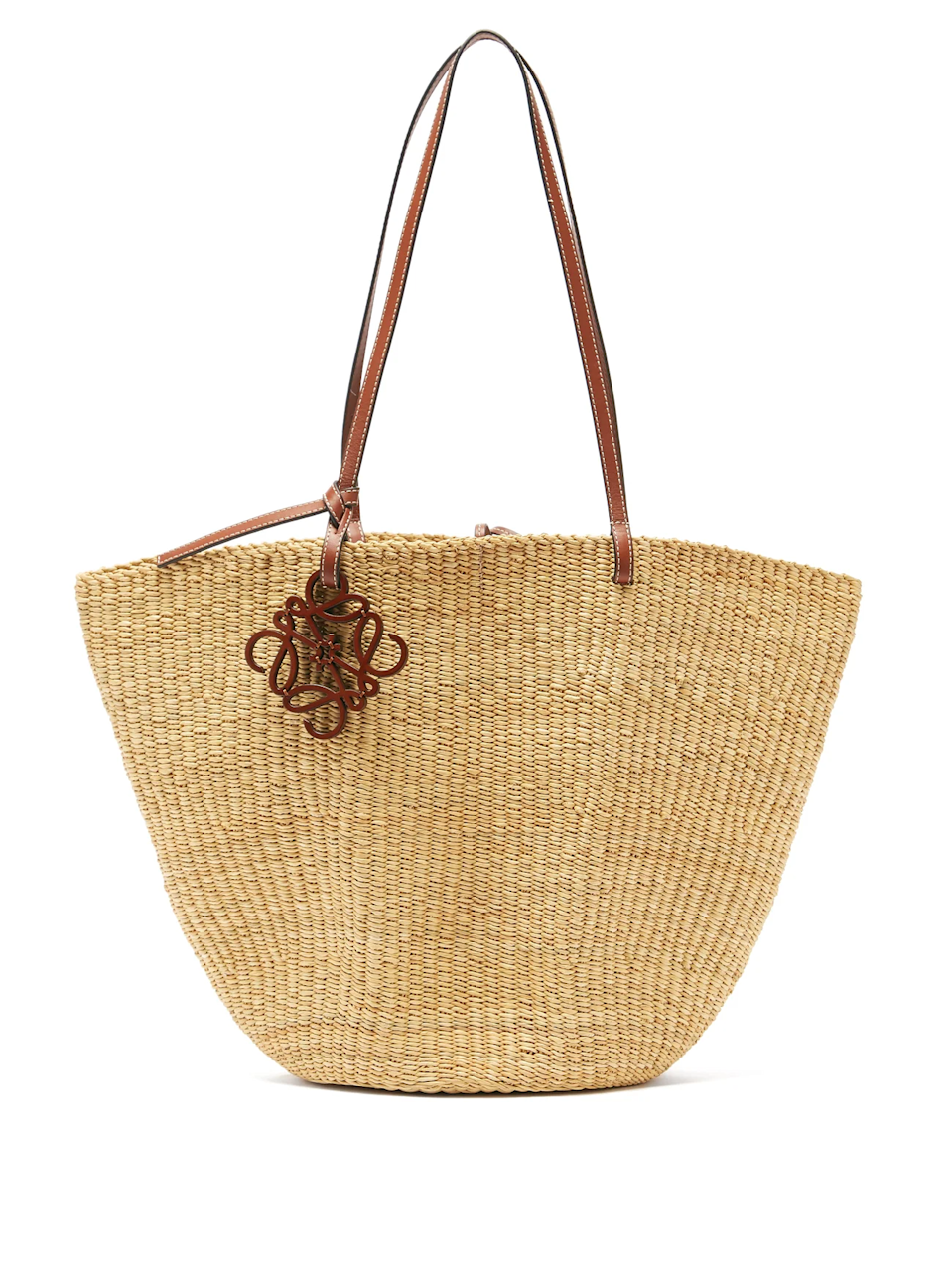 """<h2>Loewe Shell Leather & Raffia Basket Bag</h2><br>For when she Zoom calls her book club, beach background and all. <br><br><strong>Loewe</strong> Shell Leather and Raffia Basket Bag, $, available at <a href=""""https://go.skimresources.com/?id=30283X879131&url=https%3A%2F%2Fwww.matchesfashion.com%2Fus%2Fproducts%2F1344958"""" rel=""""nofollow noopener"""" target=""""_blank"""" data-ylk=""""slk:MatchesFashion"""" class=""""link rapid-noclick-resp"""">MatchesFashion</a>"""
