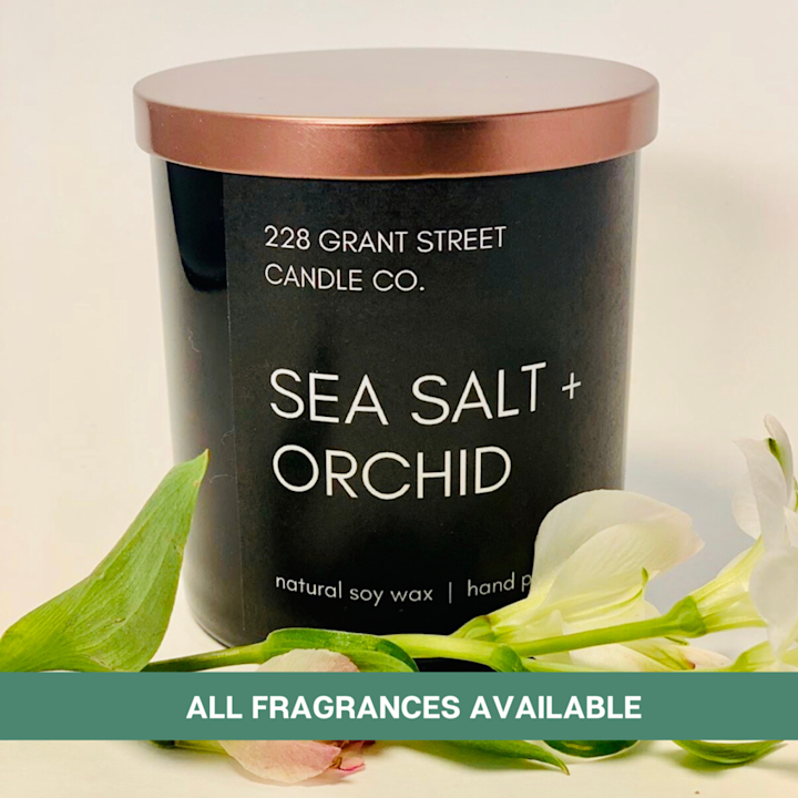 228 Grant Street Candle Co. Sea Salt + Orchid Candle