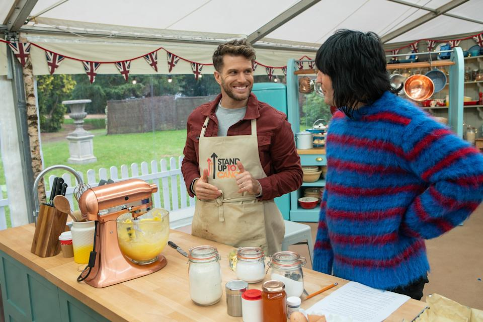 Noel Fielding tricked Joel Dommett into thinking he had won 'The Great Stand Up To Cancer Bake Off' (Channel 4/Mark Bourdillon)