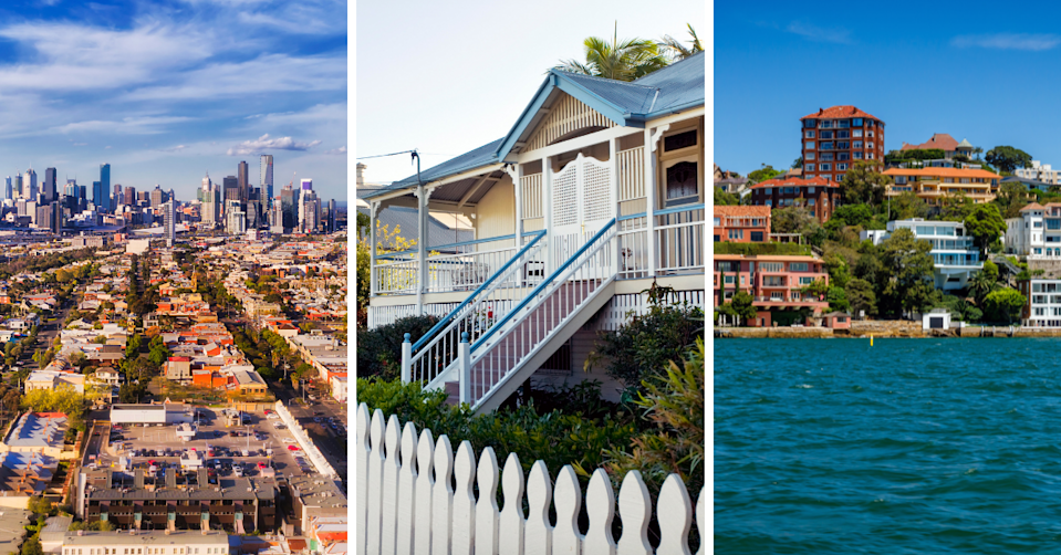 Generic images of properties and suburbs from around Australia
