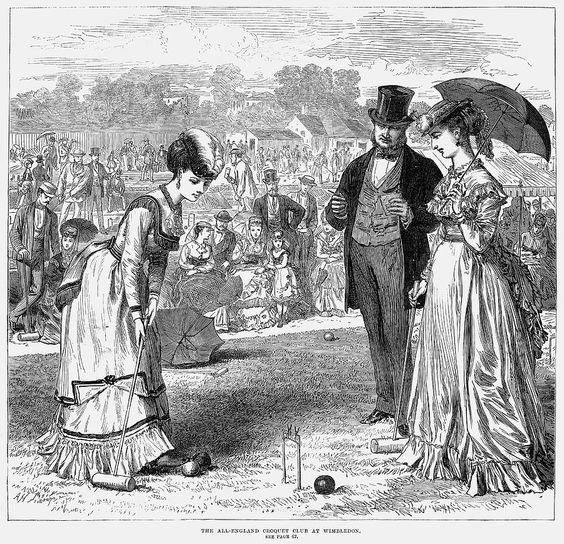 <p>The All England Croquet Club held its first tennis match in February 1875, after the public's fascination with croquet began to dwindle.</p>