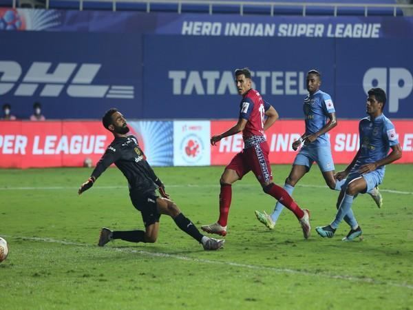 David Grande scored the second goal in the final minute of the full-time. (Photo/ ISL)