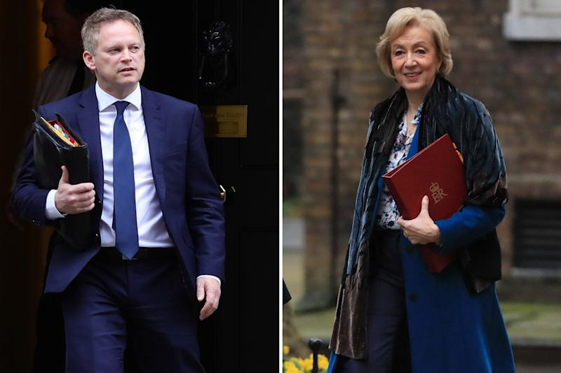 Both Transport Secretary Grant Shapps, left, and Business Secretary Andrea Leadsom welcomed the news (PA)