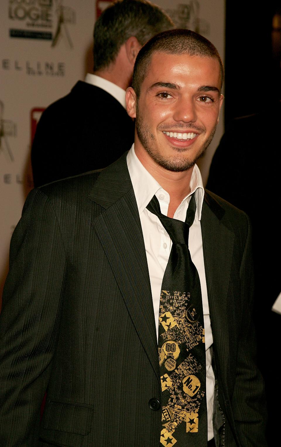 Singer Anthony Callea arrives at the 2007 TV Week Logie Awards at the Crown Casino on May 6, 2007 in Melbourne, Australia