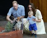 <p>On Prince George's first royal tour in 2014, the young royal went to Taronga Zoo Sydney with his parents. Not only did he get to meet wildlife native to the country, but afterward the one-year-old was given a souvenir stuffed animal. </p>