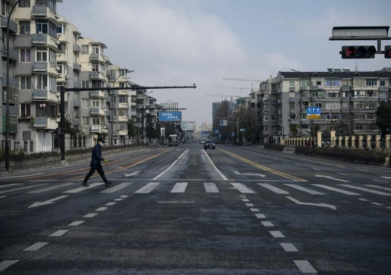 City streets across China including in Hangzhou have been left deserted due to coronavirus restrictions (AFP Photo/NOEL CELIS)