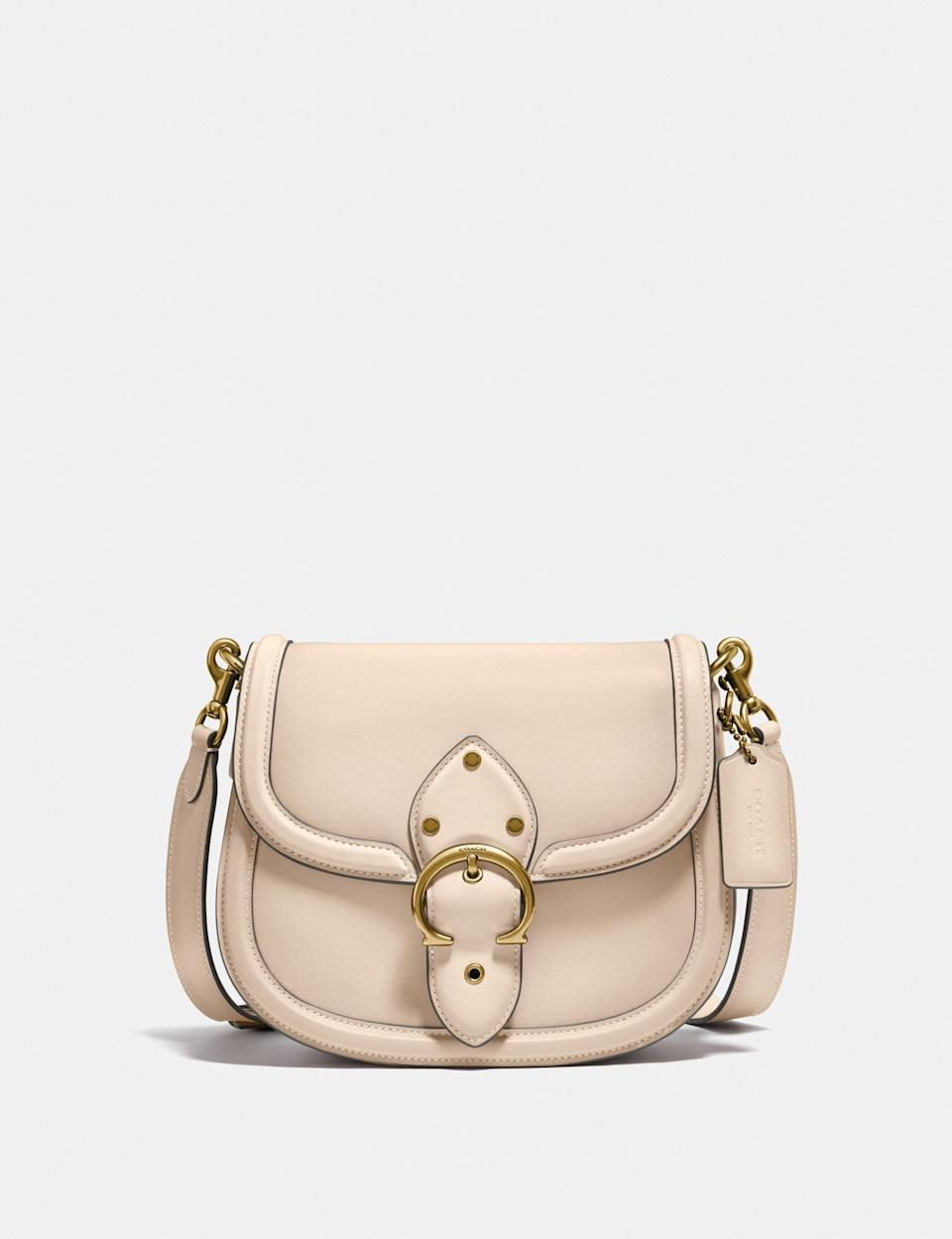 <p>This <span>Coach Beat Saddle Bag</span> ($450) comes in three other color choices.</p>