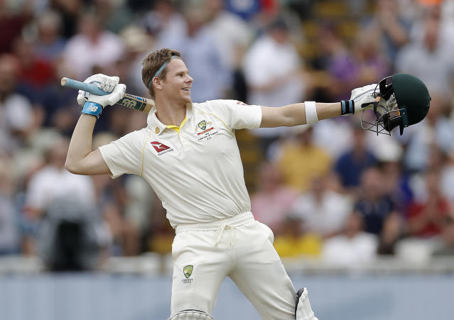 Steve Smith scored 144 and 142 in his two innings at Edgbaston en route to Australia winning the first Test (Photo by Ryan Pierse/Getty Images)