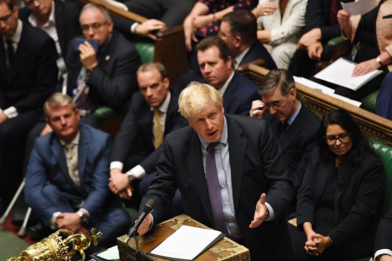Boris Johnson addresses Parliament on Tuesday, Oct. 22 | ©UK Parliament/Jessica Taylor