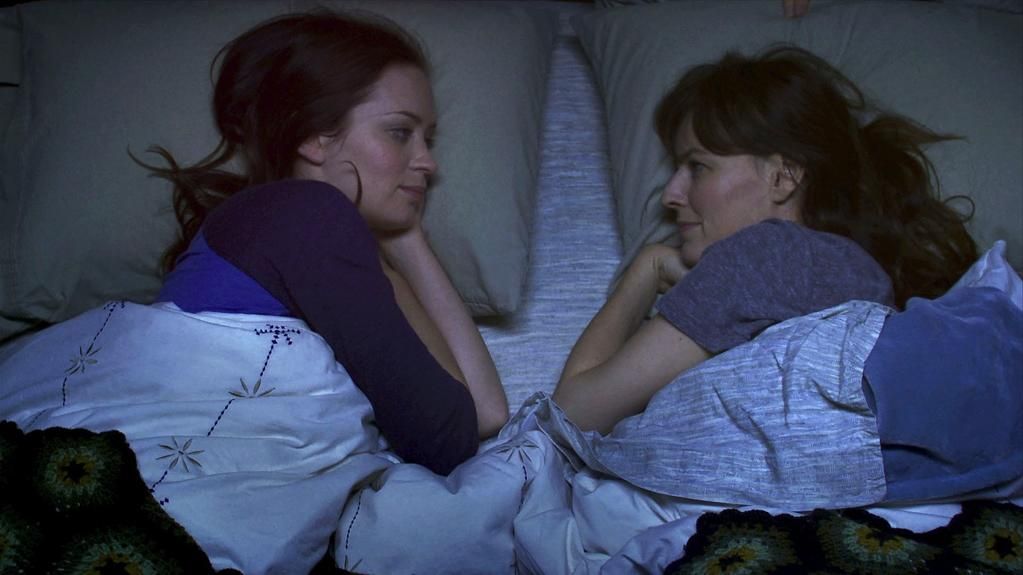 """Your Sister's Sister"": Emily Blunt and Rosemarie DeWitt co-star in Lynn Shelton's subtle, microbudgeted comedy about sibling rivalry. It's set in a remote cabin in the woods that's haunted by nothing more than the ties that bind -- and sometimes strangle."