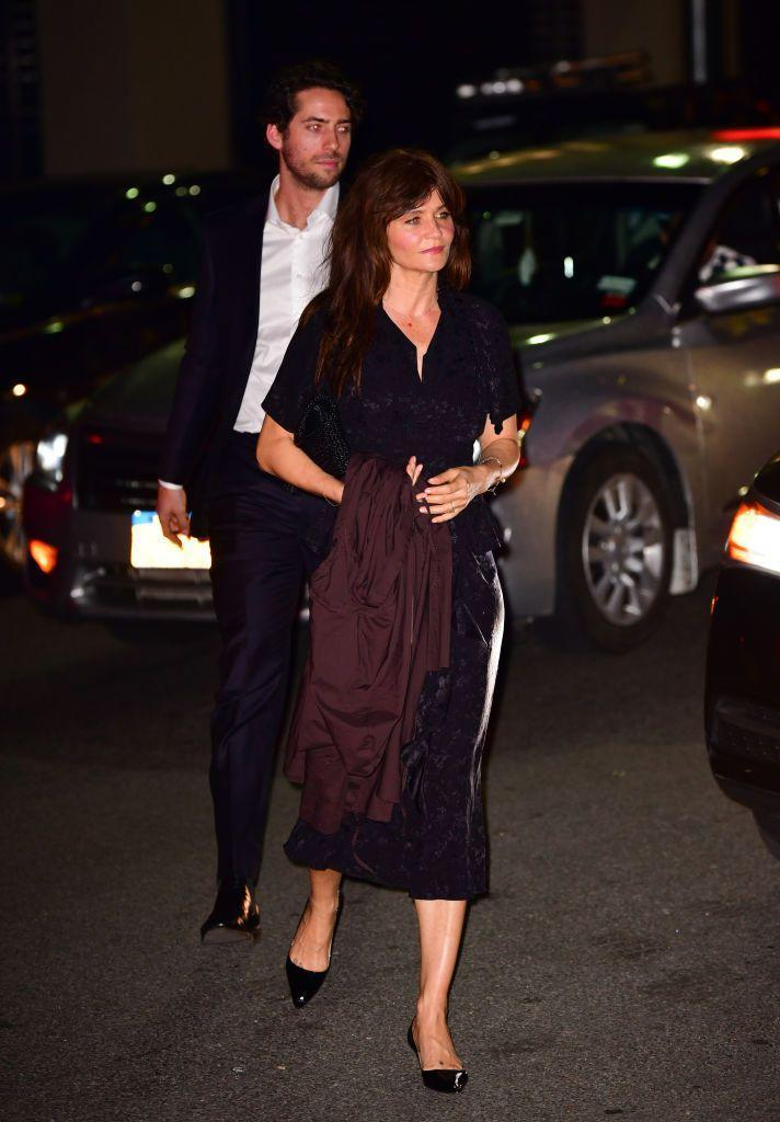 <p>The Danish model and photographer was spotted arriving at the reception.</p>