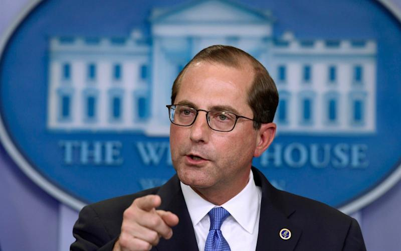 Health and Human Services Secretary Alex Azar says the US has 'skin in the game' and wants to reduce prices - AP