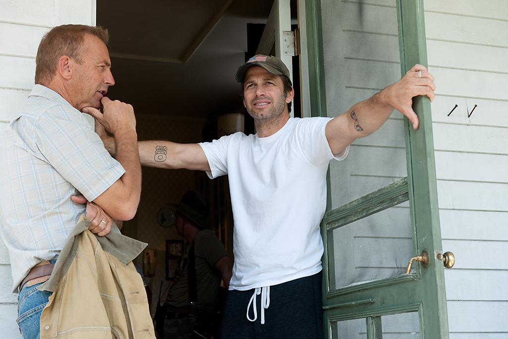 KEVIN COSTNER and director ZACK SNYDER on the set of Warner Bros. Pictures? and Legendary Pictures? action adventure ?MAN OF STEEL,? a Warner Bros. Pictures release.