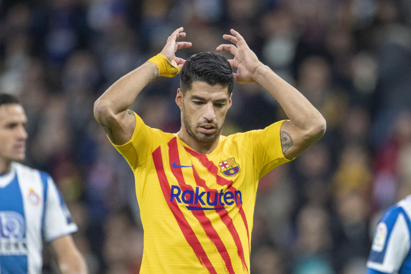 Luis Suarez will likely miss the rest of the season due to injury, and Barcelona must find a replacement. (Photo by Tim Clayton/Corbis via Getty Images)