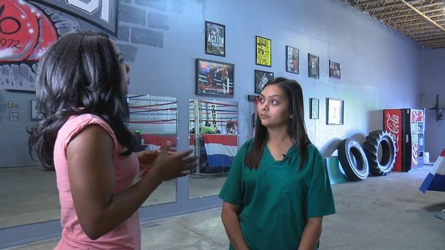 Zoe Castillo, 9, learned confidence in a self-defense class after being bullied at school.