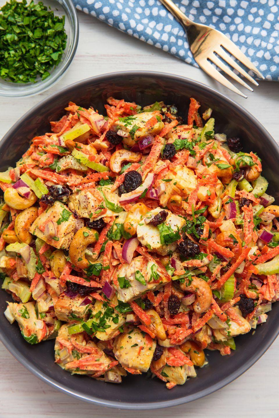 "<p>The gateway back into summer salads.</p><p>Get the recipe from <a href=""https://www.delish.com/cooking/recipe-ideas/recipes/a1571/curried-chicken-salad-recipe-8620/"" rel=""nofollow noopener"" target=""_blank"" data-ylk=""slk:Delish"" class=""link rapid-noclick-resp"">Delish</a>.</p>"