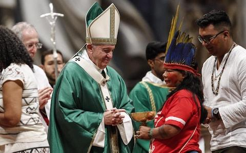 Some fear the Synod for the Pan-Amazon Region could open the way to married priests - Credit: Giuseppe Lami/Rex