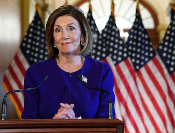 PHOTO: U.S. House Speaker Nancy Pelosi (D-CA) speaks to the media at the Capitol Building September 24, 2019 in Washington, DC. (Alex Wong/Getty Images)