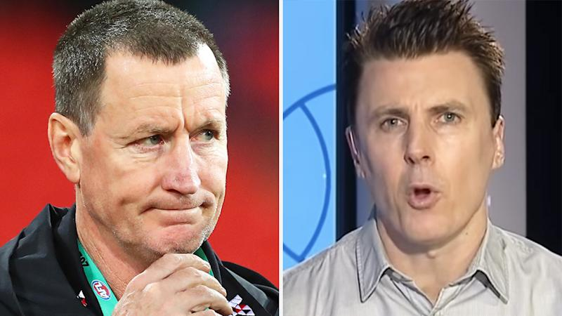 A 50-50 split image shows John Worsfold on the left and Matthew Lloyd on the right.