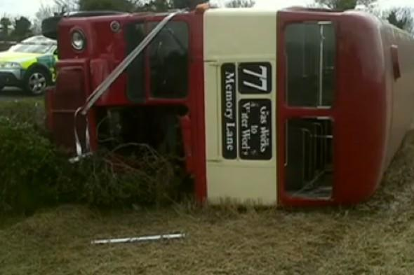 Wedding bus carrying 60 people topples over in Northern Ireland