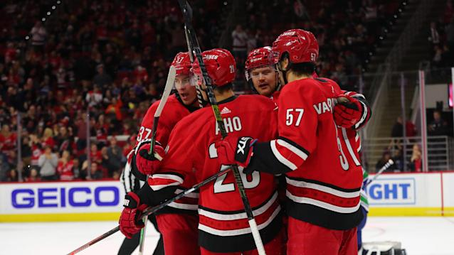The Carolina Hurricanes pulled out all the stops. (Photo by Jaylynn Nash/Icon Sportswire via Getty Images)