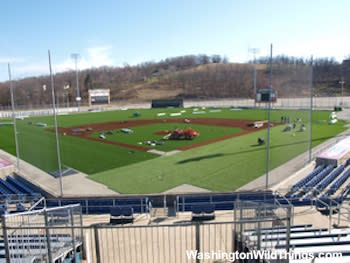 Finishing new turf construction at Console Energy Park