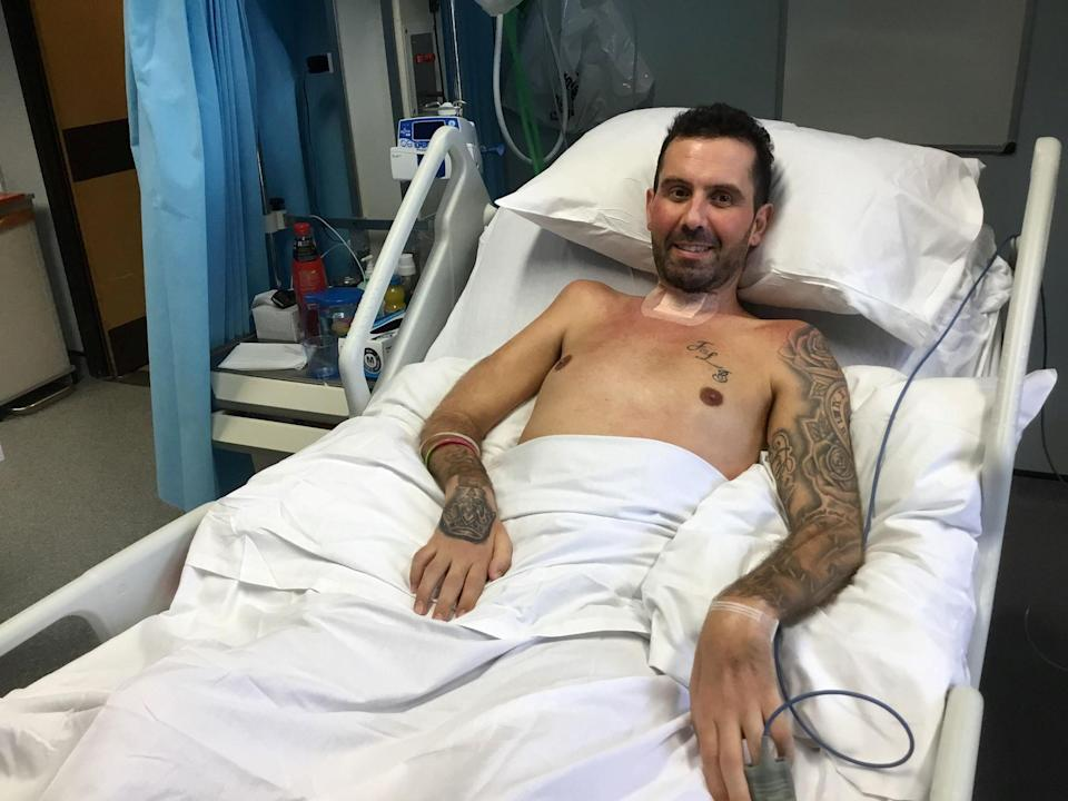 David Braham was paralysed from the nose down. Source: SWNS / MEGA Australia
