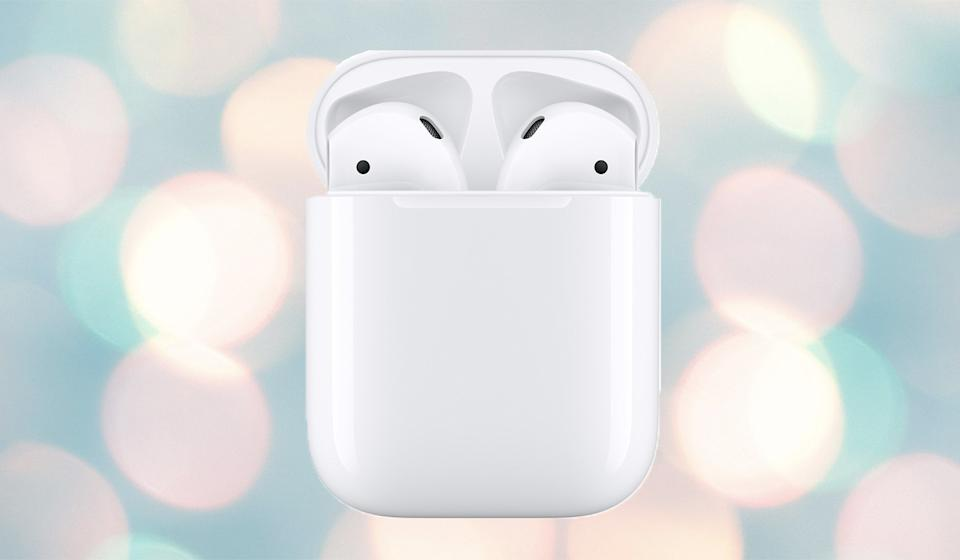 Now hear this: The original Apple AirPods are on sale for just $109 right now. (Photo: Apple)