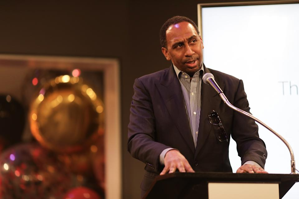 "Stephen A. Smith at Eric Braeden's 40th Anniversary CBS' ""Young And The Restless"" at CBS TV City on February 07, 2020 in Los Angeles, California. (Photo by Ella Hovsepian/Getty Images)"
