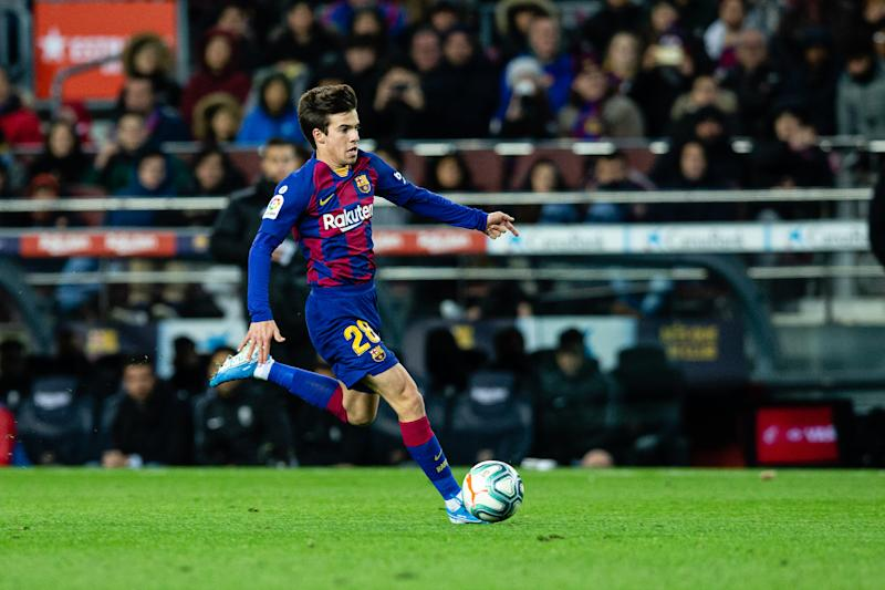 BARCELONA, SPAIN - JANUARY 19: Riqui Puig of FC Barcelona in action during the Spanish League, La Liga, football match played between FC Barcelona and Granada CF at Camp Nou stadium on January 19, 2020 in Barcelona, Spain. (Photo by Xavier B. / AFP7 / Europa Press Sports via Getty Images)