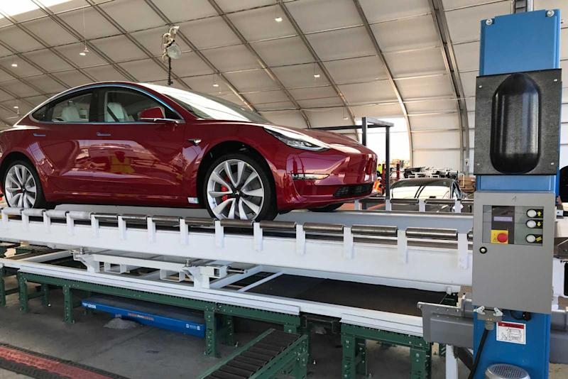 Tesla built Model 3 assembly 'tents' to meet production goals
