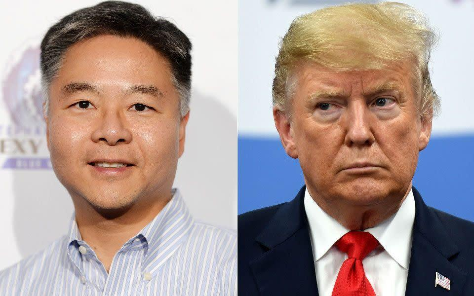 """Rep. Ted Lieu (D-Calif.) says it's """"too late"""" for Donald Trump to shut down investigations into his 2016 campaign's possible dealings with Russia. (Photo: Getty Images)"""