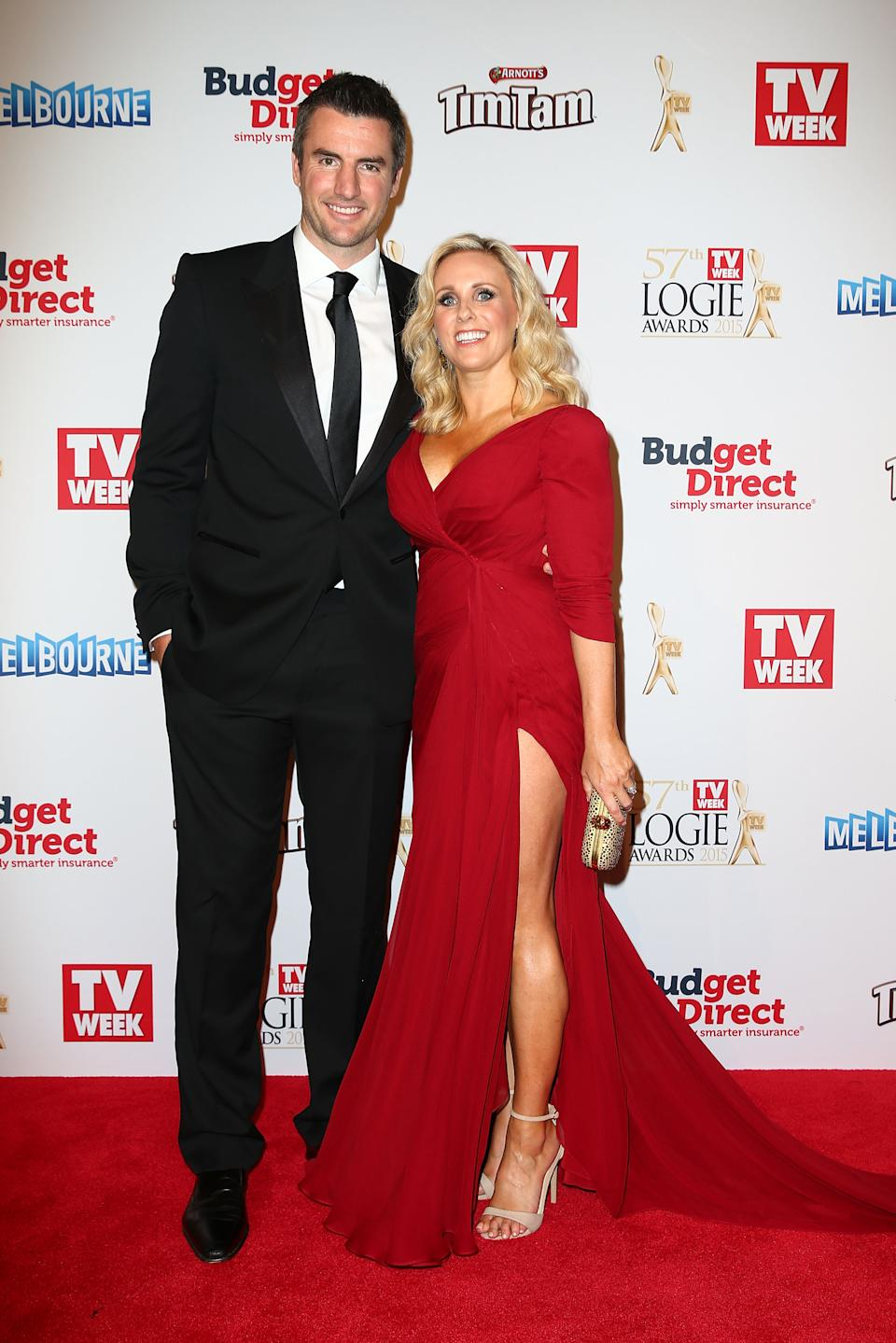 Darren Jolly and Deanne Jolly at the Logies