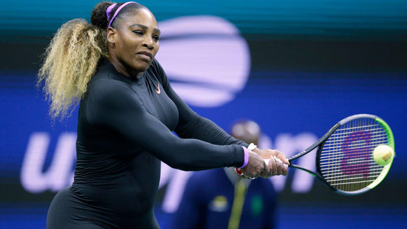 Serena Williams, pictured here in action against Maria Sharapova at the US Open.