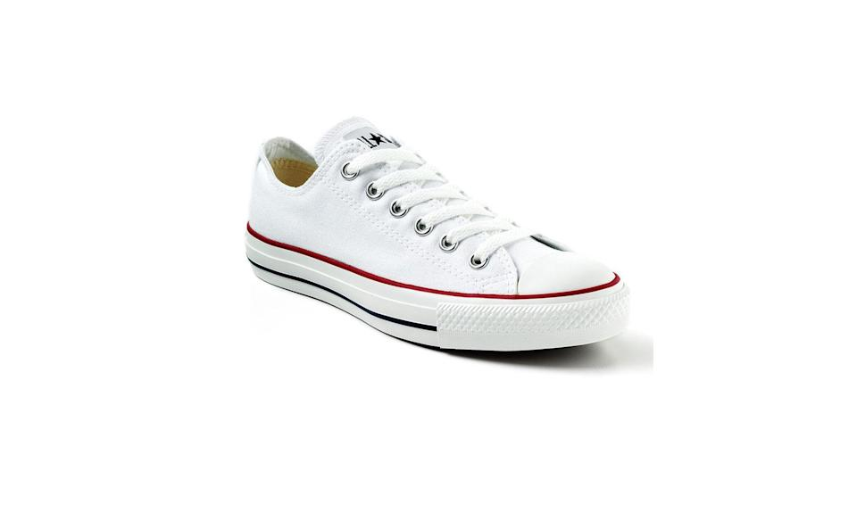 """<p>You probably grew up wearing classic Converse Chuck Taylors like this white, red, and blue one. Although the brand began in 1908 out of Massachusetts, it has since outsourced its shoe production overseas to areas including China and Indonesia. (Photo: <a href=""""https://www.kohls.com/product/prd-436526/converse-all-star-sneakers-for-unisex.jsp"""" rel=""""nofollow noopener"""" target=""""_blank"""" data-ylk=""""slk:Converse/Kohl's"""" class=""""link rapid-noclick-resp"""">Converse/Kohl's</a>) </p>"""