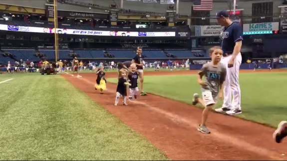 "<img alt=""""/><p>Tampa Bay Rays player Logan Morrison's almost 2-year-old daughter, Ily, knows exactly how to make that boring old base running a little more fun.</p> <div><p>SEE ALSO: <a rel=""nofollow"" href=""http://mashable.com/2017/07/17/overwatch-league-mlb-logo/?utm_campaign=Mash-BD-Synd-Yahoo-Watercooler-Full&utm_cid=Mash-BD-Synd-Yahoo-Watercooler-Full"">The MLB apparently thinks the 'Overwatch' League logo is too similar to its own</a></p></div> <p>After the Ray's game on Sunday, the kids in the park were invited to run the bases in what is a pretty standard tradition among the MLB teams. Ily made it all the way around bases, but not before boogying down to her favorite jam.</p> <div><div><blockquote> <p>When you're trying to run the bases but your song comes on. 🎶<br><br>LoMo, your little one has got rhythm. <a rel=""nofollow"" href=""https://t.co/dzoqz7zey6"">pic.twitter.com/dzoqz7zey6</a></p> <p>— Tampa Bay Rays (@RaysBaseball) <a rel=""nofollow"" href=""https://twitter.com/RaysBaseball/status/889277885944614912"">July 24, 2017</a></p> </blockquote></div></div> <p>Now, who do I have to talk to in order to make ""dancing before touching home"" an official MLB rule?</p> <div> <h2><a rel=""nofollow"" href=""http://mashable.com/2017/07/24/lost-boys-80s-vampire-7-things/?utm_campaign=Mash-BD-Synd-Yahoo-Watercooler-Full&utm_cid=Mash-BD-Synd-Yahoo-Watercooler-Full"">WATCH: 7 surprising facts about the '80s vampire film 'The Lost Boys'</a></h2> <div> <p><img alt=""Https%3a%2f%2fblueprint api production.s3.amazonaws.com%2fuploads%2fvideo uploaders%2fdistribution thumb%2fimage%2f80947%2f615fc61a fe1d 4e20 bcf9 180db645237d""></p>   </div> </div>"