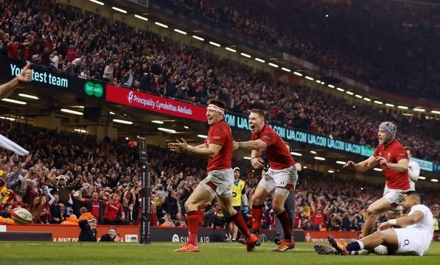 Wales defeated Grand Slam-chasing England in Cardiff last year (Paul Harding/PA)