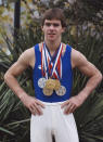The first American to win a gymnastics gold medal at the world championships, Thomas died from a stroke. He was 64. Thomas competed for the U.S. at the 1976 Olympics but made history two years later when he won gold at the world championships. A year later he upped the ante with a record six gold medals at worlds, a mark that's since been tied by Simone Biles.