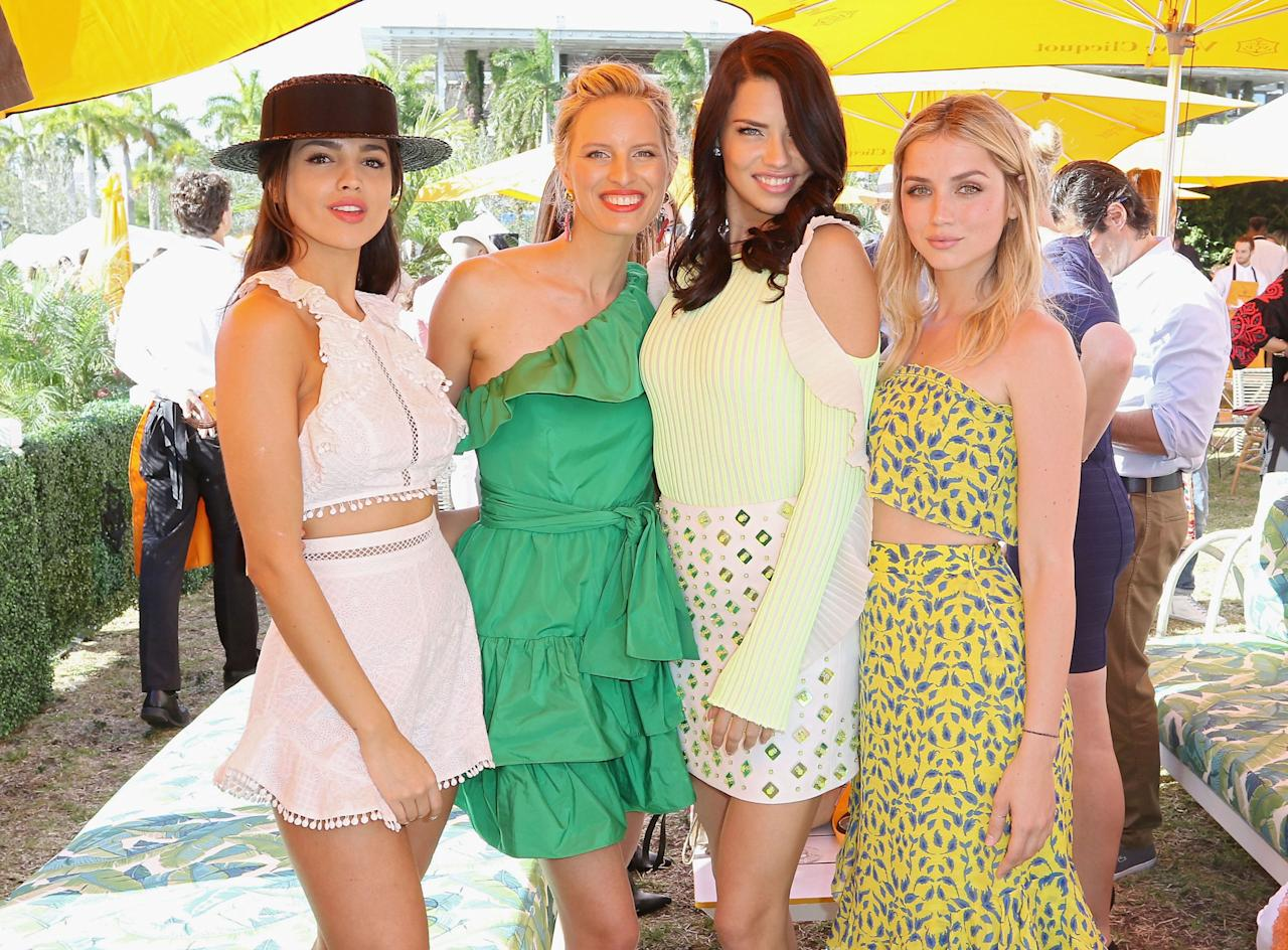 <p>This past weekend, Adriana Lima hosted the third-annual Veuve Clicquot Carnaval at Museum Park in Miami. Celebs, models, and fashion bloggers gathered to watch samba dancers, capoeira performers, and batucada drummers—and drink loads of champagne, naturally. See the best looks from the festivities here. </p>