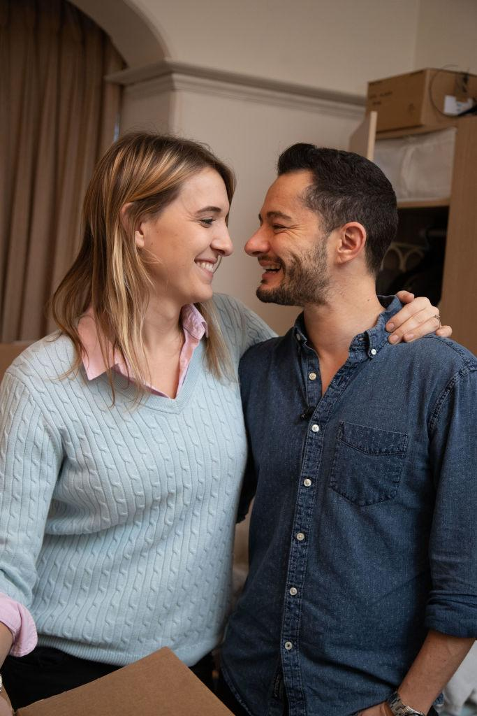 Hannah and Jake Graf announced they were going to try to start a family in 2018. (Getty Images)