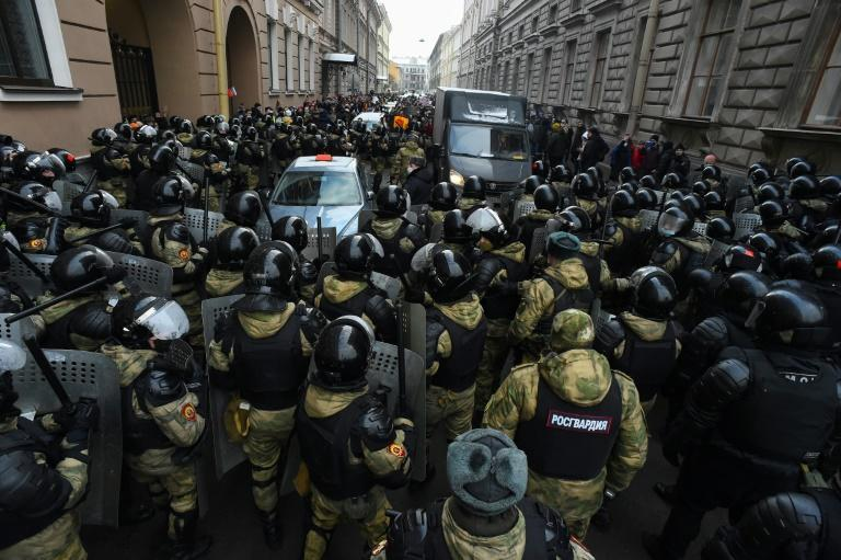 """Activists in Russia said they were concerned by the """"unprecedented escalation of baseless violence"""""""