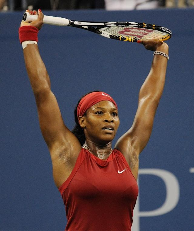 2008: Serena Williams beats Jelena Jankovic in the final (AFP Photo/DON EMMERT)