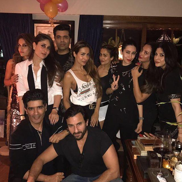 """<p>Amrita Arora took to Instagram to share some pictures of her with Bebo. She captioned one of the images as: '' Happy happy birthday my darling beebo ❤️️❤️️;;. In another picture, she wrote: '' It's my best friends birthday ❤️❤️ hahaha stating the obvious.''</p><p>Recommended Read: <a rel=""""nofollow"""" href=""""https://www.pinkvilla.com/entertainment/news/kareena-kapoor-khan-after-17-years-industry-i-expect-certain-amount-respect?utm_source=yahoo&utm_medium=referral&utm_campaign=yahoomovies"""">Kareena Kapoor Khan: After 17 years in the industry, I expect a certain amount of respect </a></p><p>Karan Johar also shared a picture with Kareena and captioned it as: ''Birthday girl.''He shared another picture with Bebo and Arjun Kapoor and wrote a caption that reads: '' Ki and Ka! And I am the And!!!!''</p><p>Mom-to-be Soha Ali Khan and Kunal Khemu also arrived at the birthday bash. While Soha looked gorgeous in a floral print gown, Kunal looked handsome in a blue tee and black trousers.</p><p>Kareena Kapoor Khan who is shooting for her comeback film, Rhea Kapoor's Veere Di Wedding took two days off, to celebrate her birthday with her family and friends.Earlier in the day, she was spotted at mom Babita'a house with son Taimur. Taimur looked absolutely adorable as he was clicked by the shutterbugs. Kareena was seen sans make-up and looked lovely as she exited the building.</p><p>Kareena Kapoor recently spoke about her role as a mother to baby Taimur and said, """"Taimur will always be the centre of my being right now. Because I think more than anything, he is my soul. My heart doesn't beat inside me anymore, its outside- and it's in him. So, everything, whatever I do in my life from now on, will be about him. So, my friends and family and everyone around me should know that.""""</p><p>She also said, """"Taimur is my life. Being a mother is something that I can't explain what I feel. I think a mother you feel more responsible,"""" during a media interaction.</p>"""