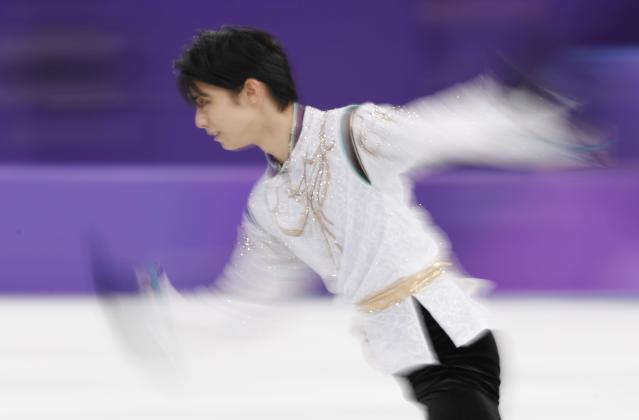 Figure Skating - Pyeongchang 2018 Winter Olympics - Men Single free skating competition final - Gangneung, South Korea - February 17, 2018 - Yuzuru Hanyu of Japan competes. REUTERS/Damir Sagolj