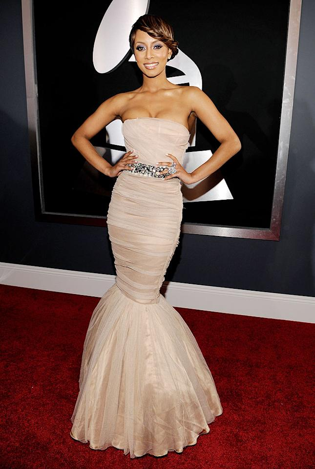 "Keri Hilson  Grade: A+   The Best New Artist nominee knocked it out of the park in a belted tulle mermaid gown, which hugged her curves in all the right places! Larry Busacca/<a href=""http://www.gettyimages.com/"" target=""new"">GettyImages.com</a> - January 31, 2010"